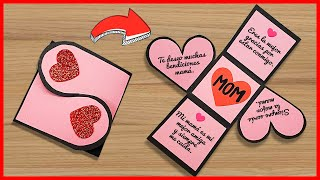 💖Tarjeta corazón plegable para el día de la madre 💯 Mother's Day Card Handmade Easy | Especial mamá