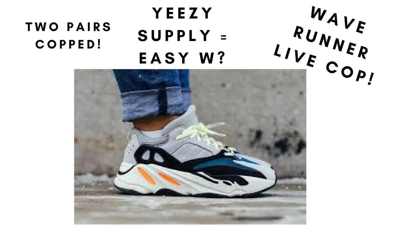 ed8d80ac268c9 YEEZY BOOST 700  WAVE RUNNER  LIVE COP ! - YouTube
