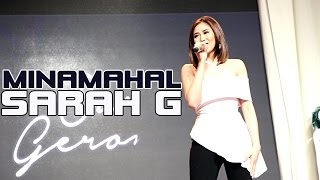 Sarah Geronimo - MINAMAHAL, a beautiful lovesong! (Album tour of Perfectly Imperfect!)
