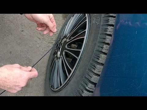 Установка колпаков Le Mans на колеса автомобиля - Смешные видео приколы