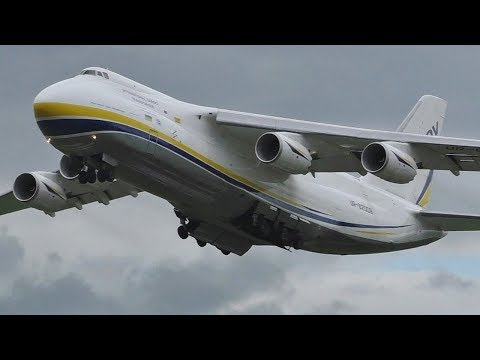 *VERY RARE* Antonov Design Bureau AN124 Takeoff at Prestwick Airport