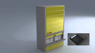 Multi Carriers Carousel Vertical Filing System By Maxi-file .mov