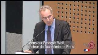 Réunion de rentrée - Discours de M. Weil, recteur de l