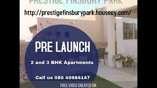 Prestige Finsbury Park - upcoming project in Bagalur Road, North Bangalore