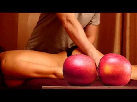 Erotic Massage of sexy  woman with  passionate like real sexual act apples motion thumbnail