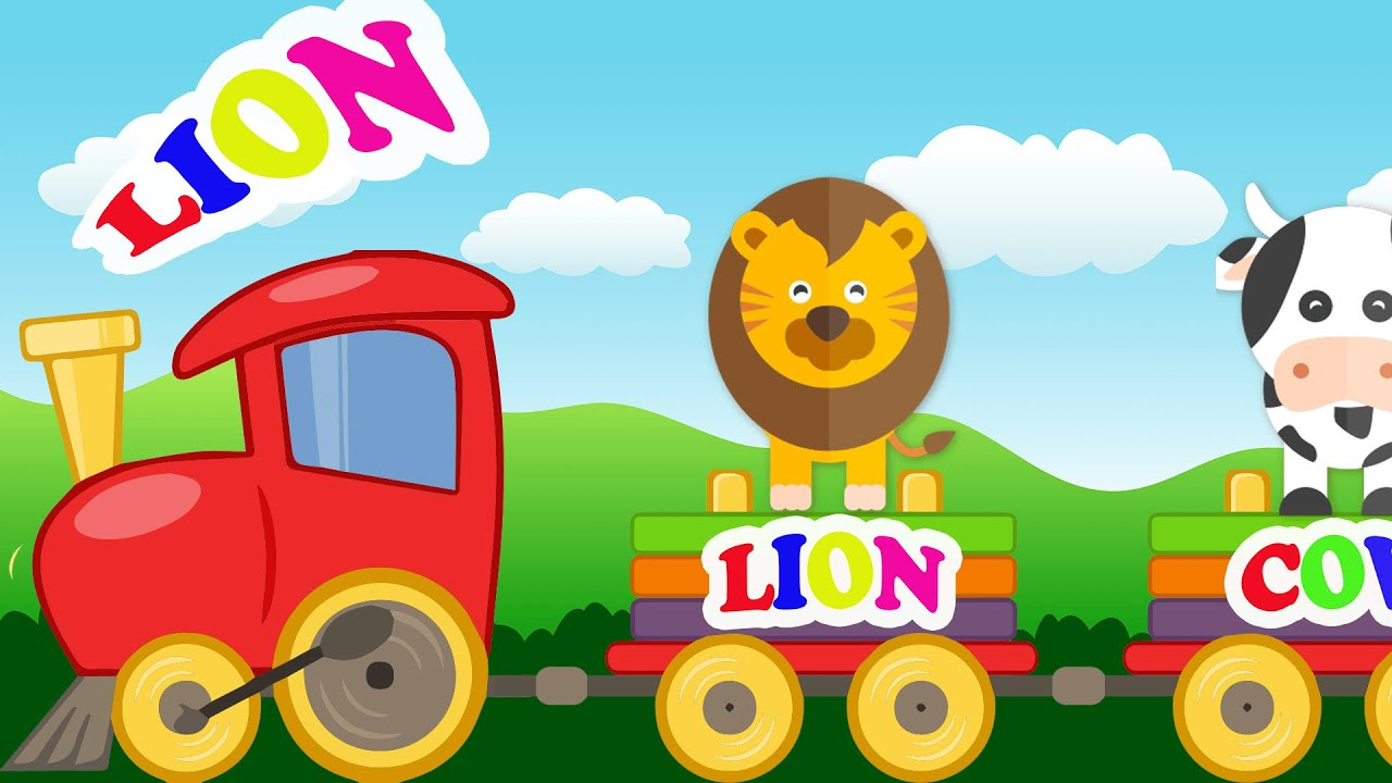 Animal Train New Kids TV - Learning for Children