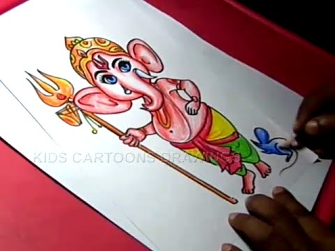 How To Draw Lord Bala Child Ganesha Drawing For Kids Step By Step
