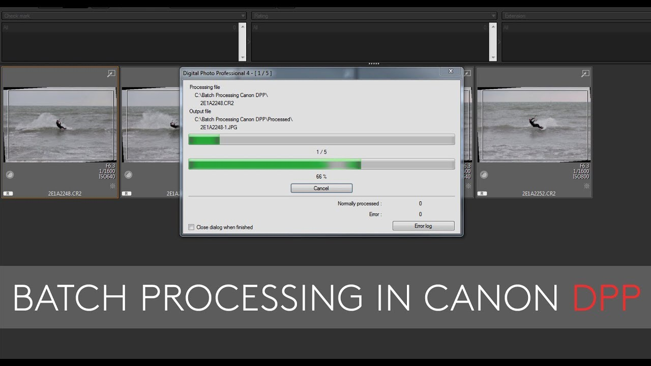 Batch Processing In Canon S Dpp Editing Software