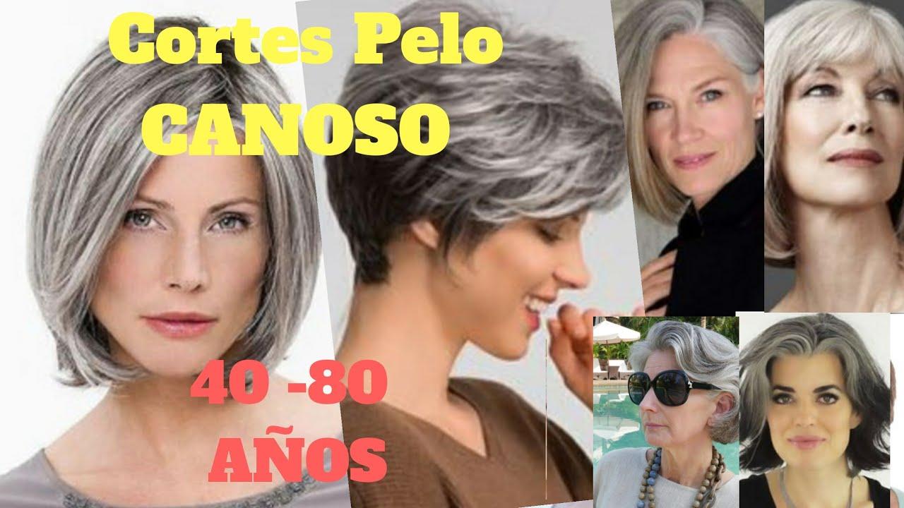 Cortes De Pelo 2020mujer Pelo Canoso 40 80 Cortes De Cabello Youtube