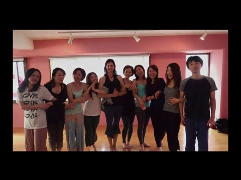 Margi Young in osaka 2015 - Vinyasa Workshop