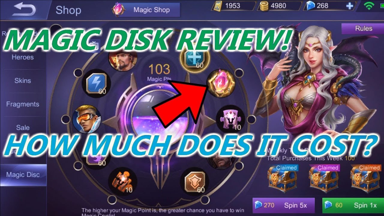 Mobile Legends How Much Does The Magic Crystal Cost Expensive Youtube