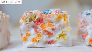 Rainbow Marshmallow Cereal Bars [FOOD VIDEO]  [스윗더미 . Sweet The MI]