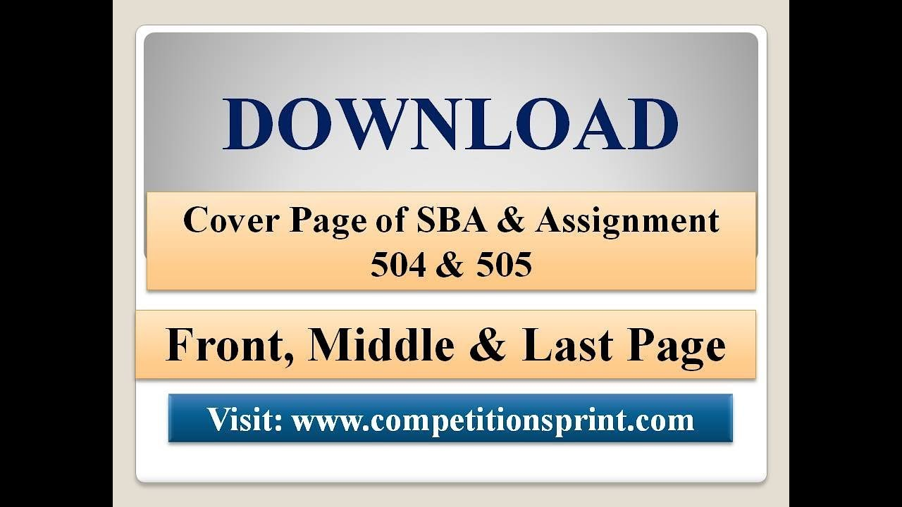 cover page of pob sba Nios deled cover page download pdf format, assignment & sba front page after successfully completing your assignment or sba case study you need a good design cover page for that to submit.