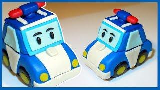 Лепим Робокара Поли из пластилина. Полицейская машина. 로보카 폴리 Robocar Poli.