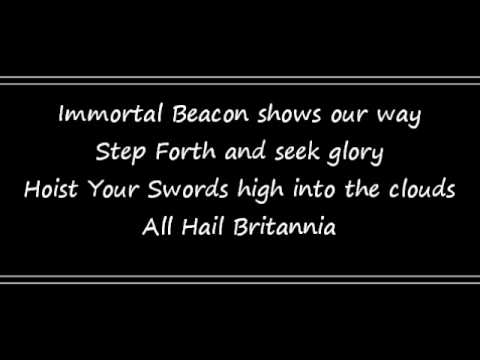 All Hail Britannia with Lyrics