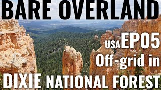 USA off-grid Vanlife in Utah's Dixie National Forest - Ep05