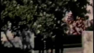 rare jfk assassination film of motorcade route from different angles with audio