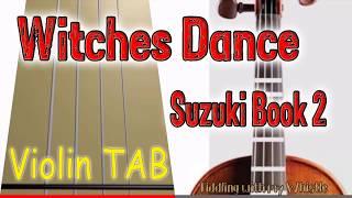 Witches Dance - N Paganin - Susuki Book 2 - Violin - Play Along Tab Tutorial