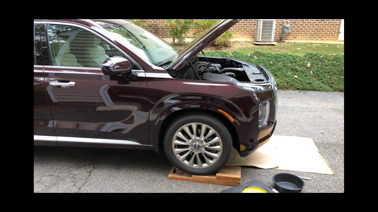 2020 Hyundai Palisade Kia Telluride Oil Change Youtube