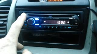 Sony MEX BT2500. How to turn bluetooth on.