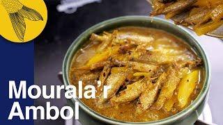 Mourola machh'er ambol/tok aam diye—small Mourala fish with green mangoes | How to cut mourola fish