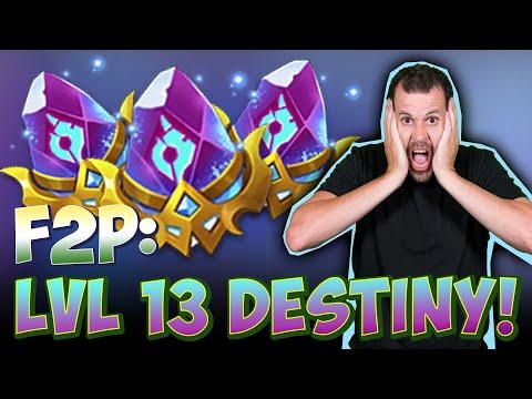 JT's F2P Destiny Level 13 ONETIME! Castle Clash