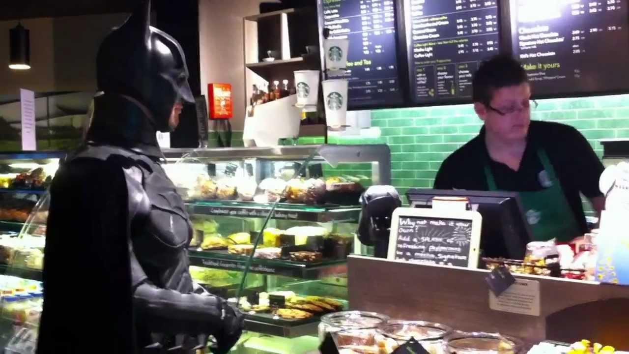 0f7ef1ac8b505 Batman at Starbucks - YouTube