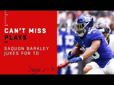 Saquon Barkley Jukes Past Texans D Capping Off Giants TD Drive!