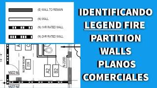 C1-LECTURA  DE PLANO COMERCIAL-IDENTIFICANDO  FIRE  PARTITION WALL