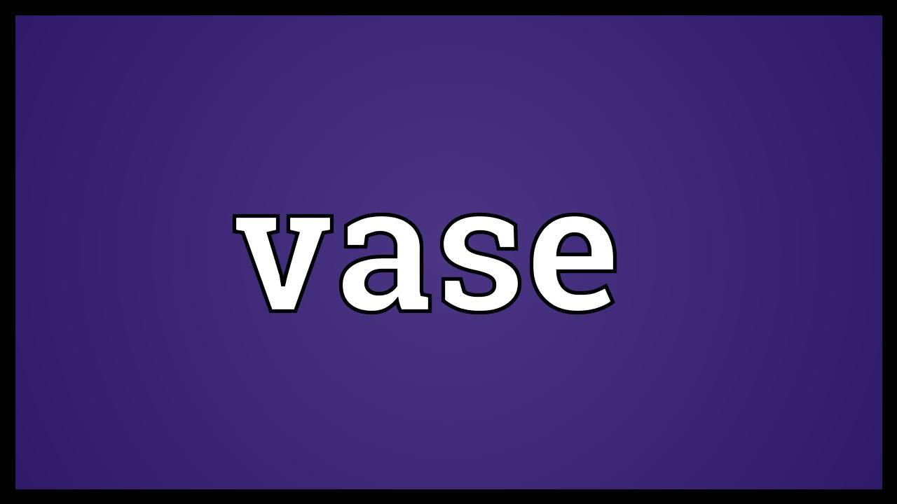 Flower vase pronunciation - Vase Meaning