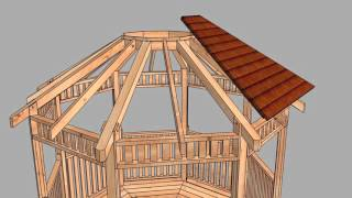 Gazebo 10ft Octagon Assembly Sequence from Outdoor Living Today 2016