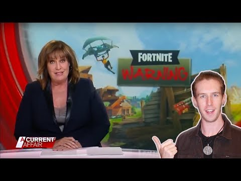 Australian Media VS Fortnite (The Dangers Of Videogames) -- LewReview