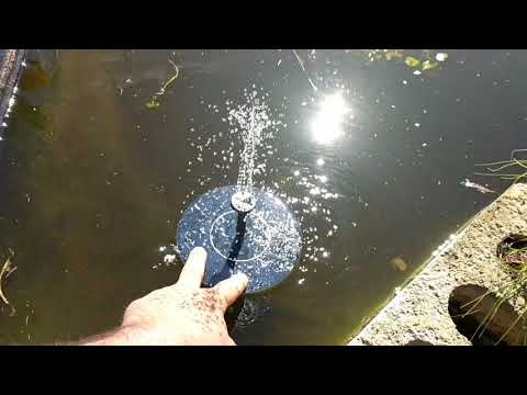 Solar powered water fountain. From eBay or Amazon