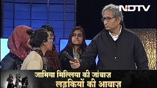 Prime Time, Dec 18, 2019 | Girls From Jamia University Talk To Ravish Kumar About Violence In Campus