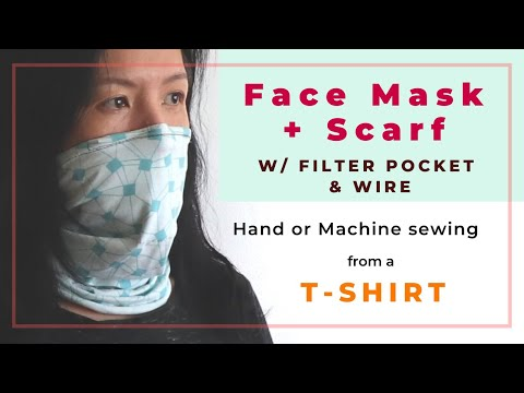 neck-tube/-gaiter-mask-from-a-stretchy-t-shirt---filter-pocket-&-wire--hand-or-machine-sewing