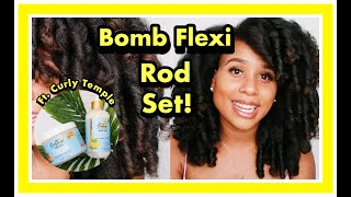 Bomb Flexi Rod Set| Type 4 hair| ft. Curly Temple Products