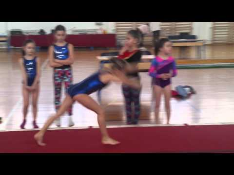 Rua Melek and Sad Haja Warm up on the floor and Uneven bars Gymnastics Competition Dubrovnik
