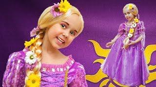 Rapunzel Kids Make up / Yulya Dress up as Disney Princess and Play w/ Doll