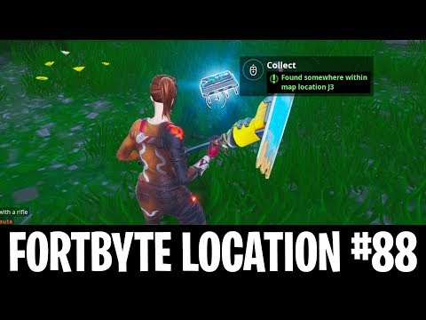 New Fortbyte #88 Location in Fortnite! Fortbyte Found Within Map Loation J3 Fortnite! (New Fortbyte)