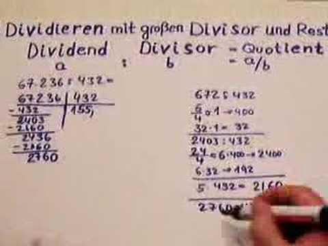 Dividieren mit großem Divisor Var. II
