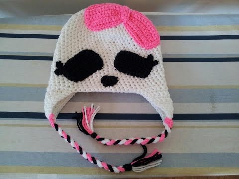 Tutorial Crochet Monster High Beanie Youtube