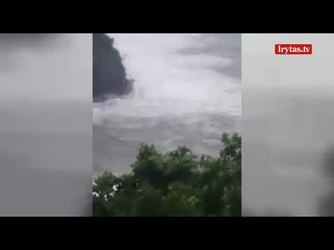 """Karibuose siaučia naujas uraganas vardu """"Maria"""""""