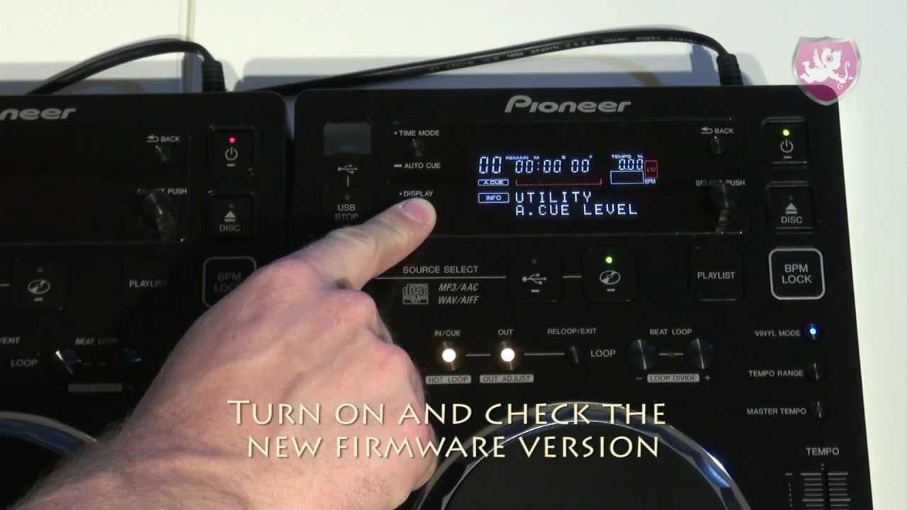Updating firmware pioneer 107d