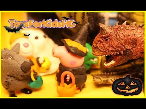 Peppa la Cerdita y Videos de Dinosaurios para niños🎃Peppa Pig Halloween🎃Videos de Peppa Pig
