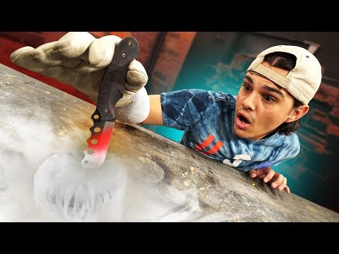 1000 DEGREE KNIFE VS. LIQUID NITROGEN!