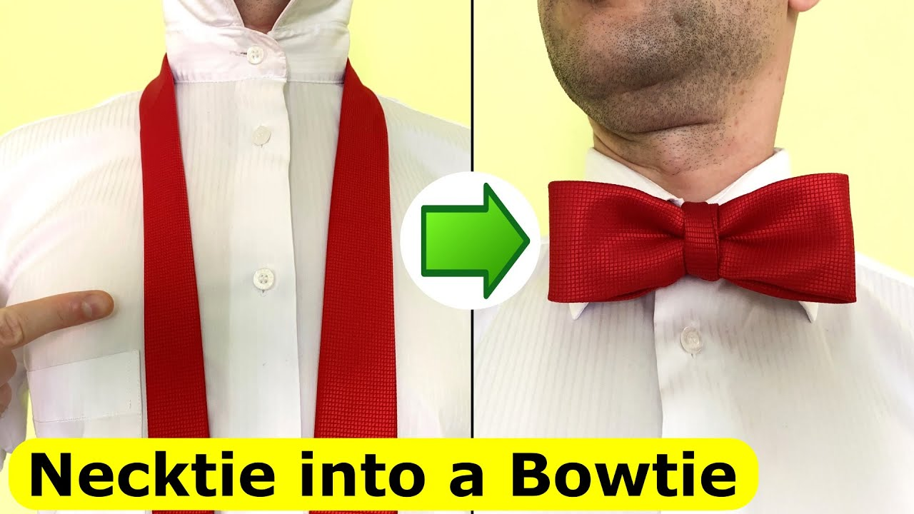 How to make a Bowtie from Necktie