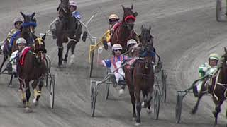 Harness Drivers Exchange Whip Mid-Race