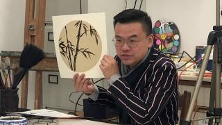 Chinese brush painting demonstration