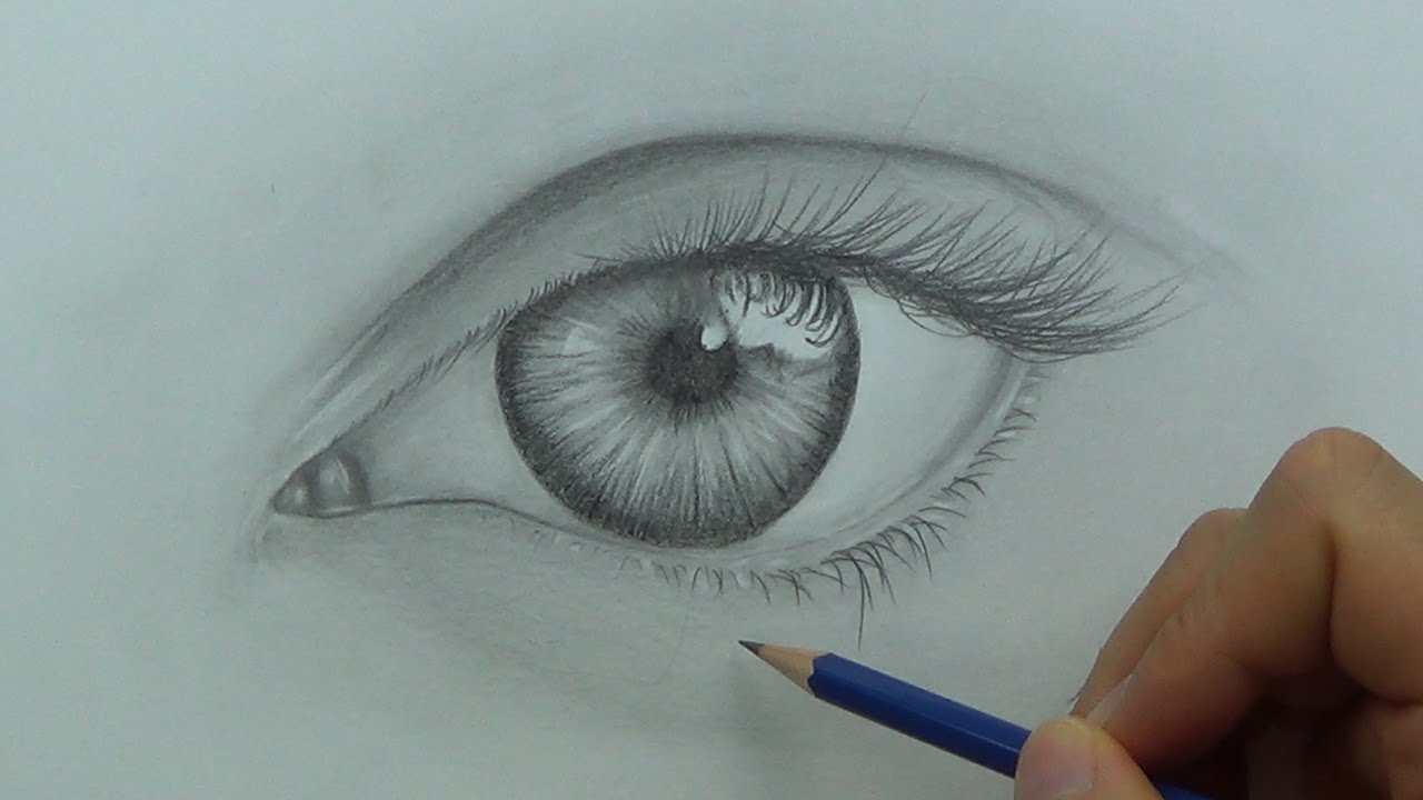 Drawing A Realistic Eye (Time Lapse)