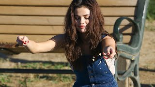 Selena Gomez feeding several animals in a park in Los Angeles on February 2